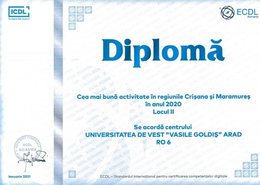 """UVVG, locul doi în competenţe digitale!  Universitatea de Vest """"Vasile Goldiş"""" din Arad a organizat 26 sesiuni de examinare în anul 2020"""