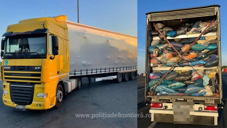 Opt TIR-uri încărcate cu 130 de tone de deșeuri fără acte, oprite și întoarse din drum la vama Nădlac II