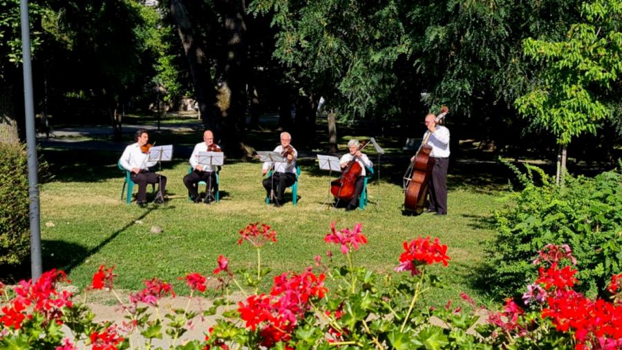 """Filarmonica arădeană vă așteaptă vineri """"La băncuțe"""". Concert în aer liber pe Malul Mureșului"""