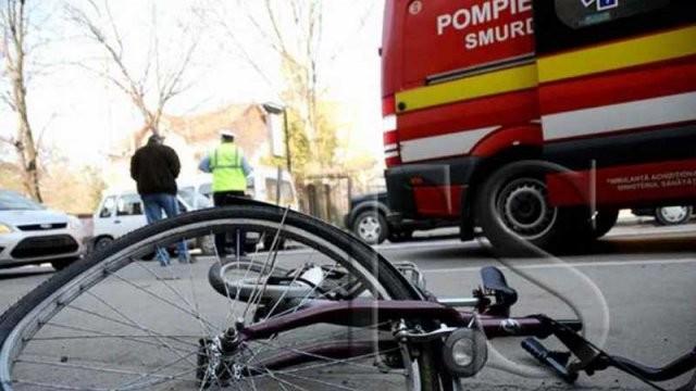 A accidentat un biciclist și a fugit de la fața locului