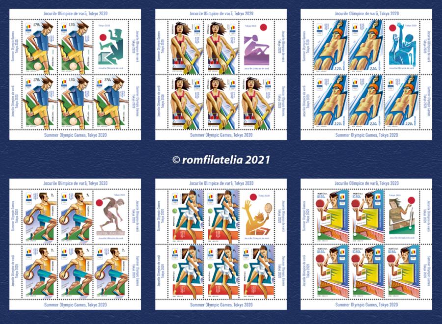Emisiune de mărci poştale dedicată Jocurilor Olimpice de la Tokyo, în circulaţie de vineri