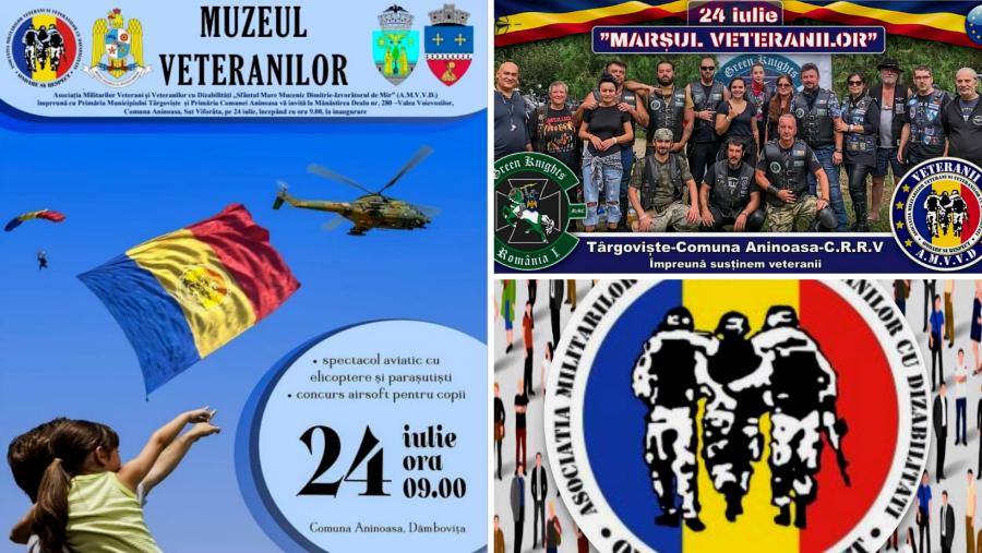 Muzeul Veteranilor, unic în România, va fi inaugurat sâmbătă. Tot atunci va avea loc și Marșul dedicat veteranilor teatrelor de operații