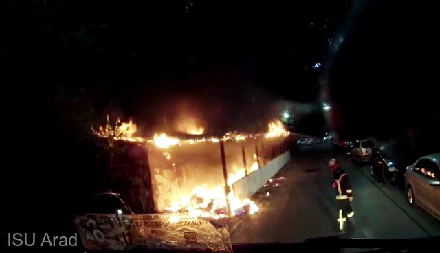 Un depozit cu mobilă al unui austriac, distrus de un incendiu provocat