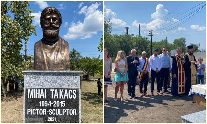 Bustul lui Mihai Takacs, dezvelit în centrul comunei Șilindia