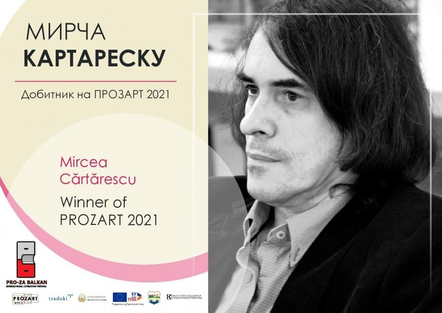 Mircea Cărtărescu a câștigat premiul PROZART 2021