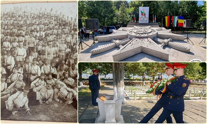 Eroii de la Turtucaia, comemorați după 105 ani. Moment emoționant pentru un militar care s-a rugat la mormântul străbunicului său