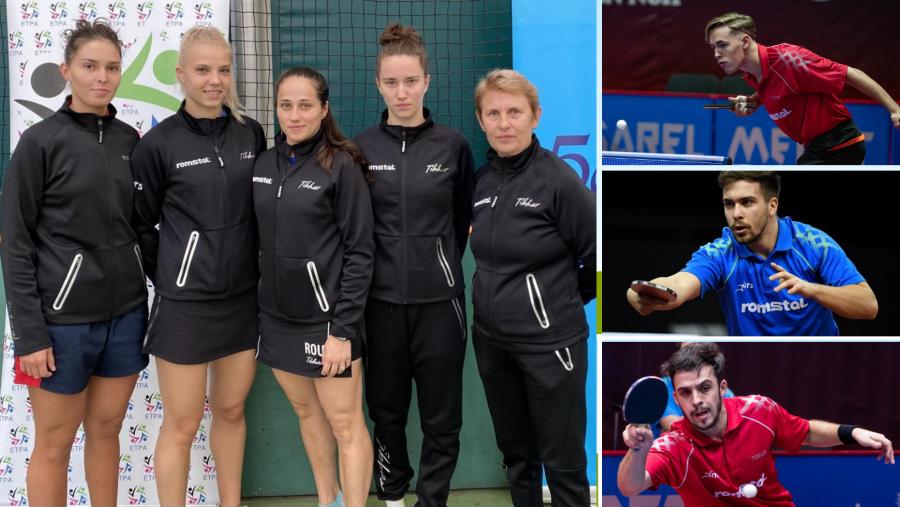 Medalii de aur şi argint pentru echipele României la Campionatele Balcanice de tenis de masă pentru seniori