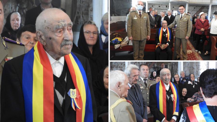 Veteranul de război Gheorghe Șuteu, sărbătorit la împlinirea vârstei de 100 de ani