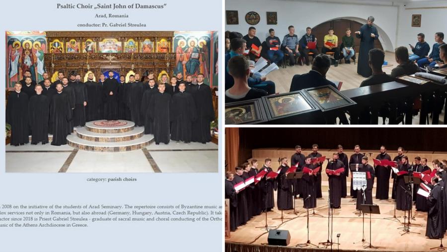 """Corul psaltic """"Sfântul Ioan Damaschin"""" din Arad va participa la Concursul Internațional de Muzică sacră din Bialystok – Polonia"""