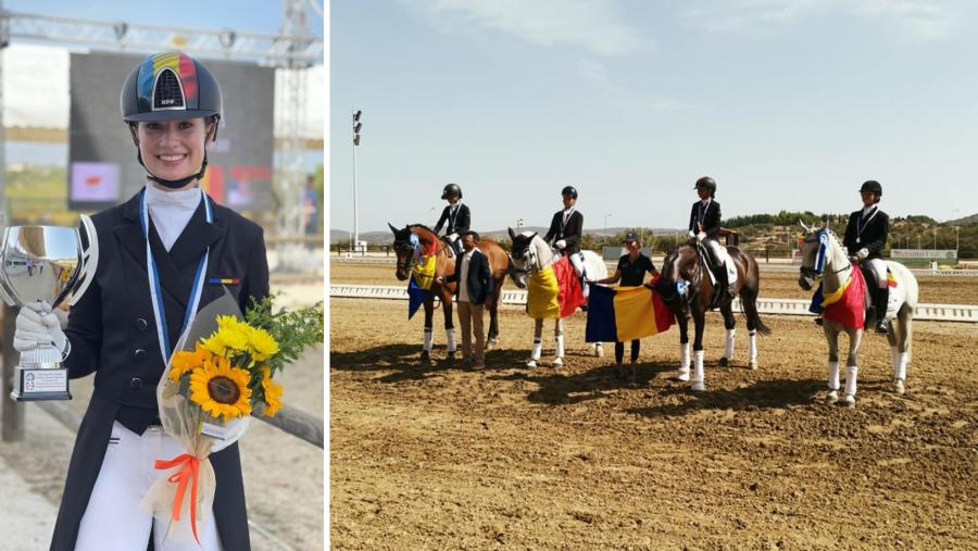 Doi arădeni, pe podium la Campionatul Balcanic de Dresaj