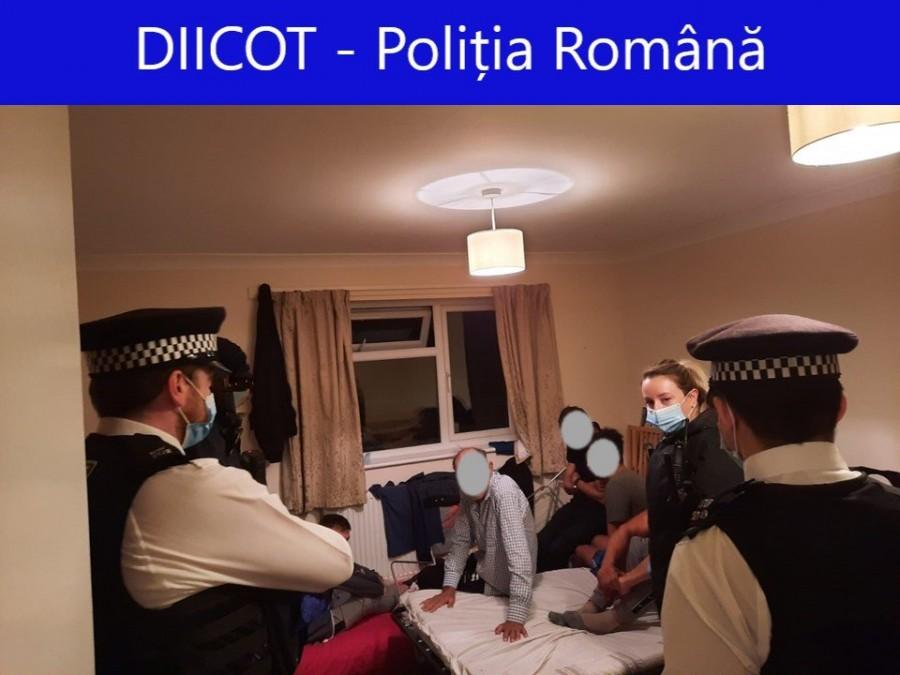 Cooperare a procurorilor din România și Marea Britanie pentru destructurarea unei rețele de trafic de persoane (FOTO)