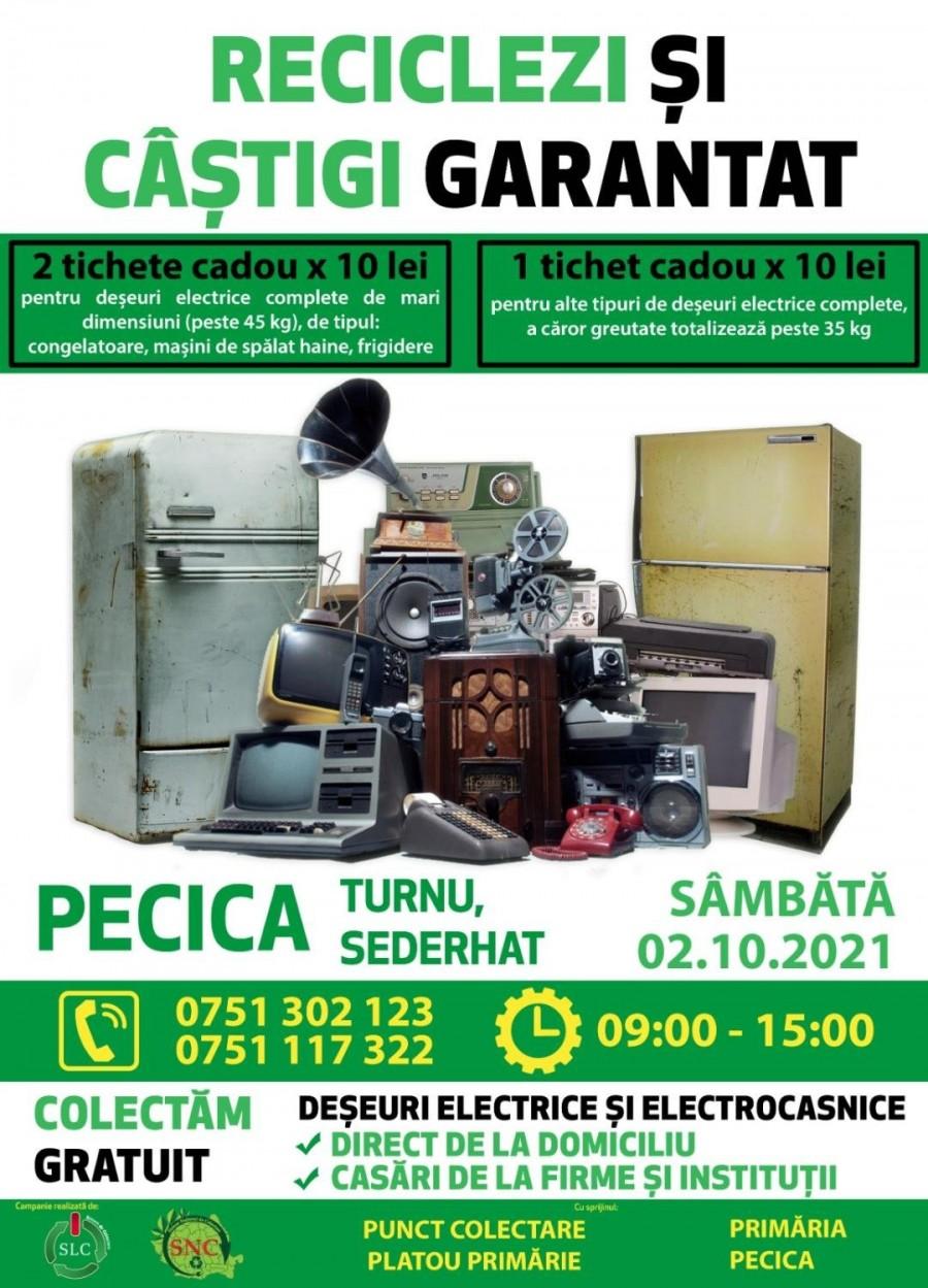 Sâmbătă, la Pecica se colectează deșeurile electrice și electronice