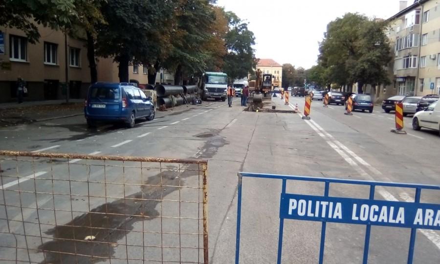 Front nou de lucru pentru reţeaua de apă de pe strada I.C. Brătianu