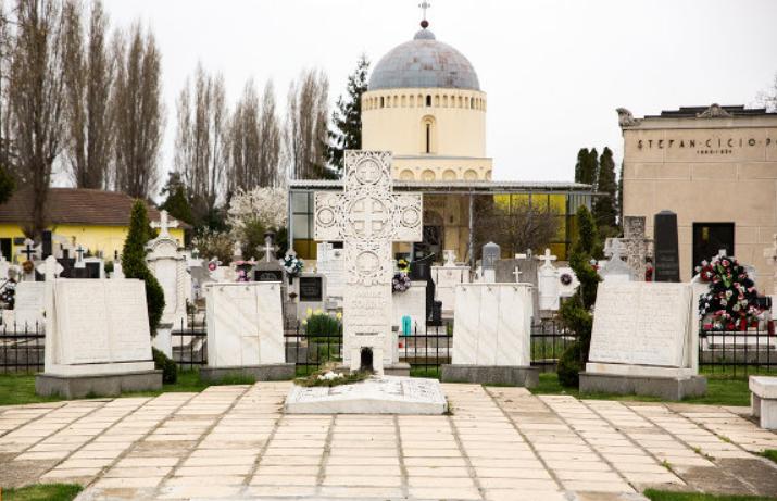 Mormântul lui Vasile Goldiş