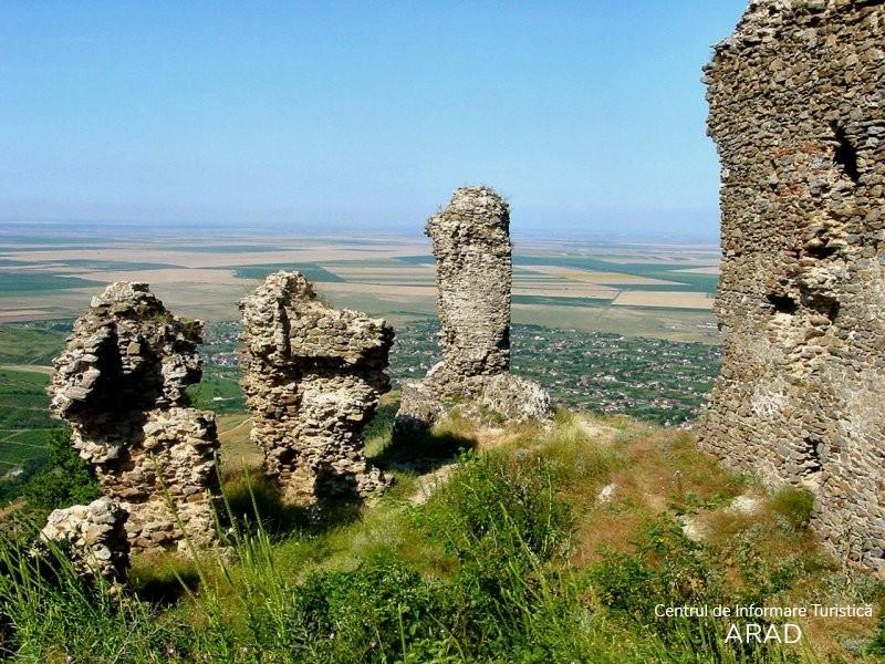 Cetatea medievală Şiria, ruine, sat Şiria, comuna Şiria, situată deasupra localităţii